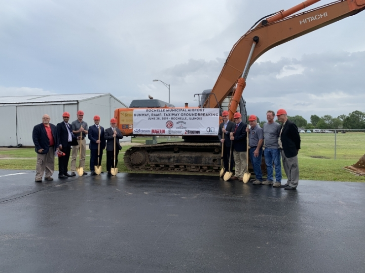 Rochelle Airport Breaks Ground on $3.2 Million Multi-Phased Reconstruction Projects